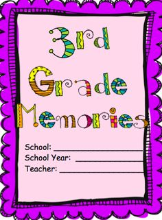 Memory book for 3rd grade students!  This is a great gift to send home at the end of the year for students and parents! $