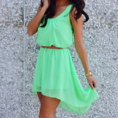 Love the colour, the cut, flow, everything, cute summer dress
