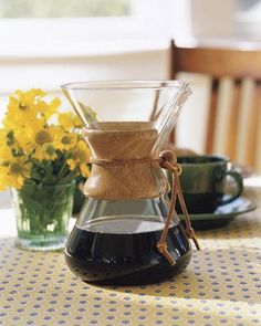 Chemex Wood Collar Glass Coffee Maker I had one of these years and years ago and thought it made the best coffee - and unlike the plastic coffeemakers i have to replace constantly - the only way to break this is to physically break it