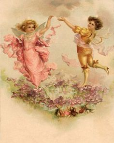Dancing Angels Vintage Artwork by Vintage Artwork. $39.95. Usually ships in 1 weekMultiple SizesThis antique like artwork depicts two elegant angels dancing upon a flower bed. Delight your kid's room or nursery with this enchanting vintage wall art! This beautiful vintage inspired art will be cherished for years to come in your child's playroom or bedroom. You have the freedom to select to either have the artwork on a vintage board or canvas reproduction.  Features ...