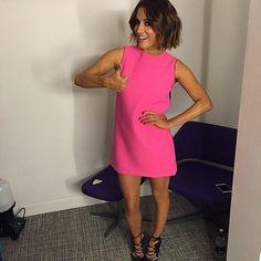 Thumbs up: Caroline Flack is odds on to win the Strictly Come Dancing final on Sunday night