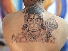 Sacred Hindu Tattoo Ideas – Designs Packed With Color and Meaning Hanuman Tattoo, Religious Tattoos For Men, Hindu Tattoos, Tattoo Designs, Religion, Sanskrit Tattoo, Full Sleeve Tattoos, Tattoos For Guys, Tattoo Ideas