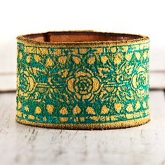 Floral Accessories Leather Cuff Graduation Gift by rainwheel