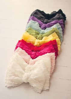 bow bandeau - I want every color <3