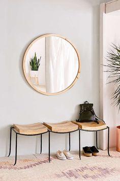 Urban Outfitters Tri-Seat Mango Wood Bench | Scandinavian Design Interior Living | #scandinavian #interior