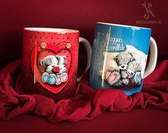 Valentin napi ajándék - Szerelmes macis bögre - nevesajandek.hu #valentinnapiajándék #macisbögre Valentino, Mugs, Tableware, Pink, Dinnerware, Tumblers, Tablewares, Mug, Dishes