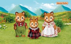 La famille PANDA ROUX