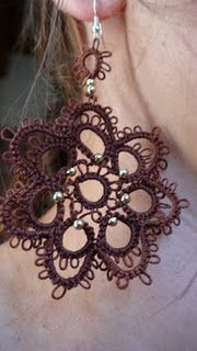 I have some tatting...I am going to make some earrings!!!