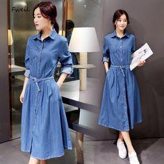 2016 New Cotton Polyester Solid Women Dress And Winter Dress Korean Women Casual Long Slim Sleeve Turndown A-line Vestidos