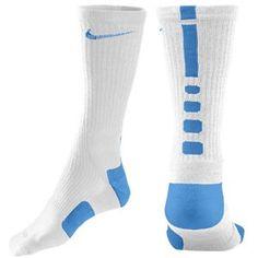 Nike Elite Basketball Crew Sock - Men's - Basketball - Accessories - White/University Blue