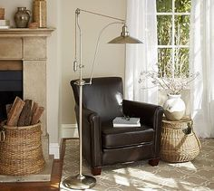 Glendale Pulley Task Floor Lamp #potterybarn
