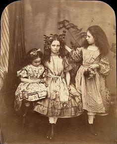 Irene MacDonald, Flo Rankin, and Mary MacDonald at Elm Lodge  Lewis Carroll (English, 1832–1898)  Date: 1863