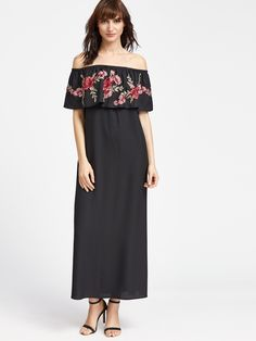 Black Rose Patch Ruffle Off The Shoulder Dress sold by URBANE OUTFITTERS. Shop more products from URBANE OUTFITTERS on Storenvy, the home of independent small businesses all over the world.
