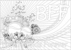 BFF Coloring Pages for Girls | http://www.color-me-crazy.org ...