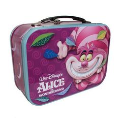 Item Number: 23706 Dimensions: 10.50 x 8.25 x 6.75 inches One of our favorite Disney characters grins from ear to ear on the front of this handy metal tote. Use for lunches, storage, or display it wit