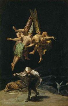 Francisco Goya Witches Flight Art Poster 11x17 – BananaRoad