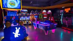 Archie Brothers Is Melbourne's New Circus-Themed Arcade Bar for Kidults Melbourne Bars, Colorful Cocktails, Mario Kart, Archie, Playground, Concrete, Brother, Activities, Children Playground