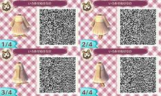 gaming QR code animal crossing new leaf new leaf acnl able sisters qr pattern acnl qr code qr design qr dress