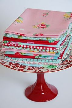 lovely vintage-printed fabric