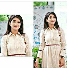 Preety girl Cotton Gowns, Cotton Long Dress, Shivangi Joshi Instagram, Preety Girls, Kartik And Naira, Mohsin Khan, Indian Tv Actress, Disha Patani, Kurta Designs