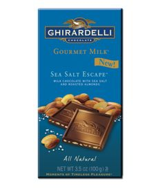 Ghirardelli Sea Salt Escape - For all the chocolate lovers! This is for you! Chocolate melts in your mouth and nuts are fresh and crunchy!