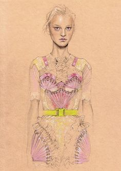 Cedric Rivrain Fashion Illustration