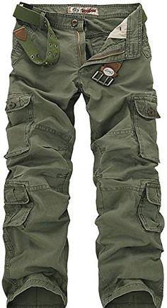 Mens Pockets Baggy Ripped Pants Vska Mens Outdoor Cargo Pant