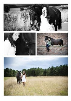 Girl with Horse..senior portraits.