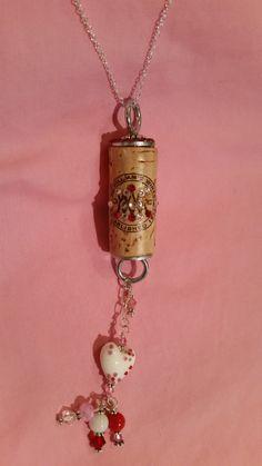 "30"" Adjustable Valentine Wine Cork Necklace by WineCorkRagTime on Etsy $26.50"