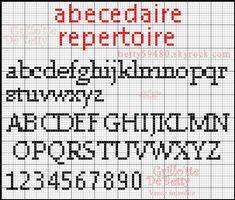 15 meilleures images du tableau POINT CROIX CHIFFRE | Croix, Alphabet point de croix et Point de ...