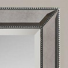 Beaded Frame Mirror Frame Mirrors Powder Room And Bath