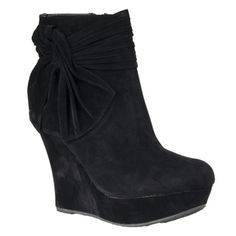 @Overstock - From Riverberry's footwear line comes a fusion of quality and style. These shoes blend contemporary fashion with traditional styling to create a must-have look for the modern woman.  http://www.overstock.com/Clothing-Shoes/Riverberry-Womens-Charli-knot-detail-Platform-Microsuede-Wedge-Boots/7217916/product.html?CID=214117 $47.09