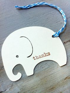 Blue Boy Elephant Vintage Baby Shower Favor Tags by papermeblossom, $9.00