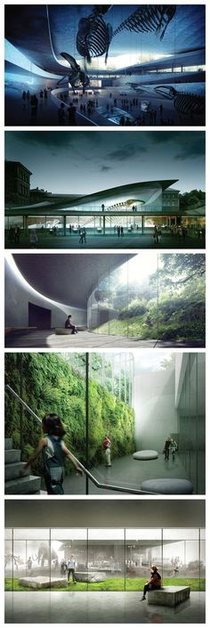 'garden of natural history' by japanese firm kengo kuma + associates Architecture Images, Architecture Visualization, Green Architecture, Futuristic Architecture, Landscape Architecture, Landscape Design, Ancient Architecture, Sustainable Architecture, Ville Durable