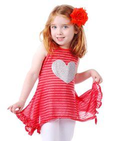 Love this Red Vera Tunic - Toddler & Girls on #zulily! #zulilyfinds