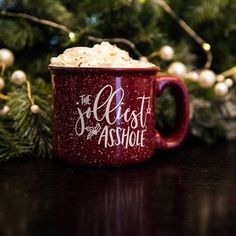 The Jolliest Asshole Christmas mug. Perfect Christmas gift for the person who loves Christmas Vacation. Holiday mug. Perfect Christmas Gifts, Winter Christmas, All Things Christmas, Xmas Gifts, Christmas Presents, Christmas Time, Christmas Crafts, Merry Christmas, Christmas Decorations