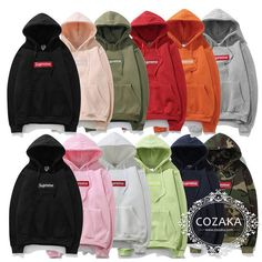 Hot Men's SUPREME Hip Hop Hoodie Embroidered Cotton Sweater Keep Warm Hoodies in Clothing, Shoes & Accessories, Men's Clothing, Activewear, Hoodies & Sweatshirts Hooded Sweater, Cotton Sweater, Stylish Hoodies, Warm Hoodies, Logo Hoodies, Supreme Box Logo Hoodie, Supreme Sweater, Champion Clothing, Supreme Clothing