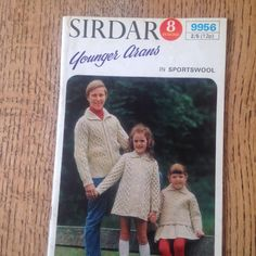 A personal favourite from my Etsy shop https://www.etsy.com/uk/listing/291990875/vintage-sirdar-younger-arans-knitting