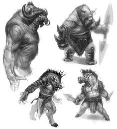 Rhinotaur, Boartaur, Minotaur