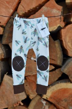 Leggings with knee patches. Alpine baby co