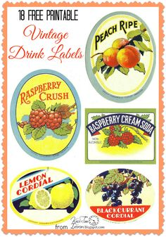 Antique Graphics Wednesday - 18 Beverage Labels - Knick of Time