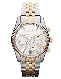 Ladies' Tri-Color Chronograph Watch by Michael Kors! #lordandtaylor