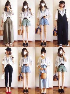 Simpliciteのシャツ・ブラウス「 【SIMPLICITE】クロスシシュウブラウス(手洗い可)」を使ったぴょんのコーディネートです。WEARはモデル・俳優・ショップスタッフなどの着こなしをチェックできるファッションコーディネートサイトです。 Fashion Now, Japan Fashion, Daily Fashion, Girl Fashion, Fashion Outfits, Womens Fashion, Fashion Design, Ulzzang Fashion, Korean Fashion