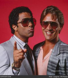 Don Johnson - Miami Vice Stars, Don Johnson and Philip Michael Thomas, Private Photo Shoot