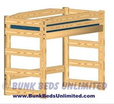 Loft Bed Plan Twin Standard