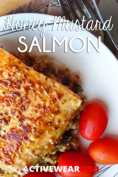 #Recipe for Honey Mustard Salmon - fast, simple and healthy fish dish that the whole family will love!