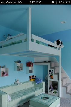 Very cool idea for a kids room