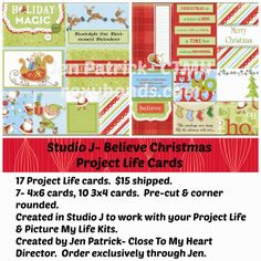 Studio J Project Life Card Sets- Beleive Christmas Order exclusively through Jen Patrick