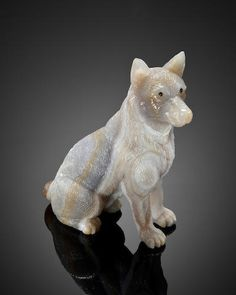 Agate Carving of a Huskie