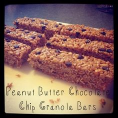 Happily Organic: Peanut Butter Chocolate Chip Granola Bars (No Bake)